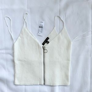 Kendall & Kylie Zipper Crop Top